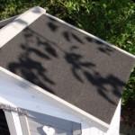 Dach mit dachpappe kaninchenstall