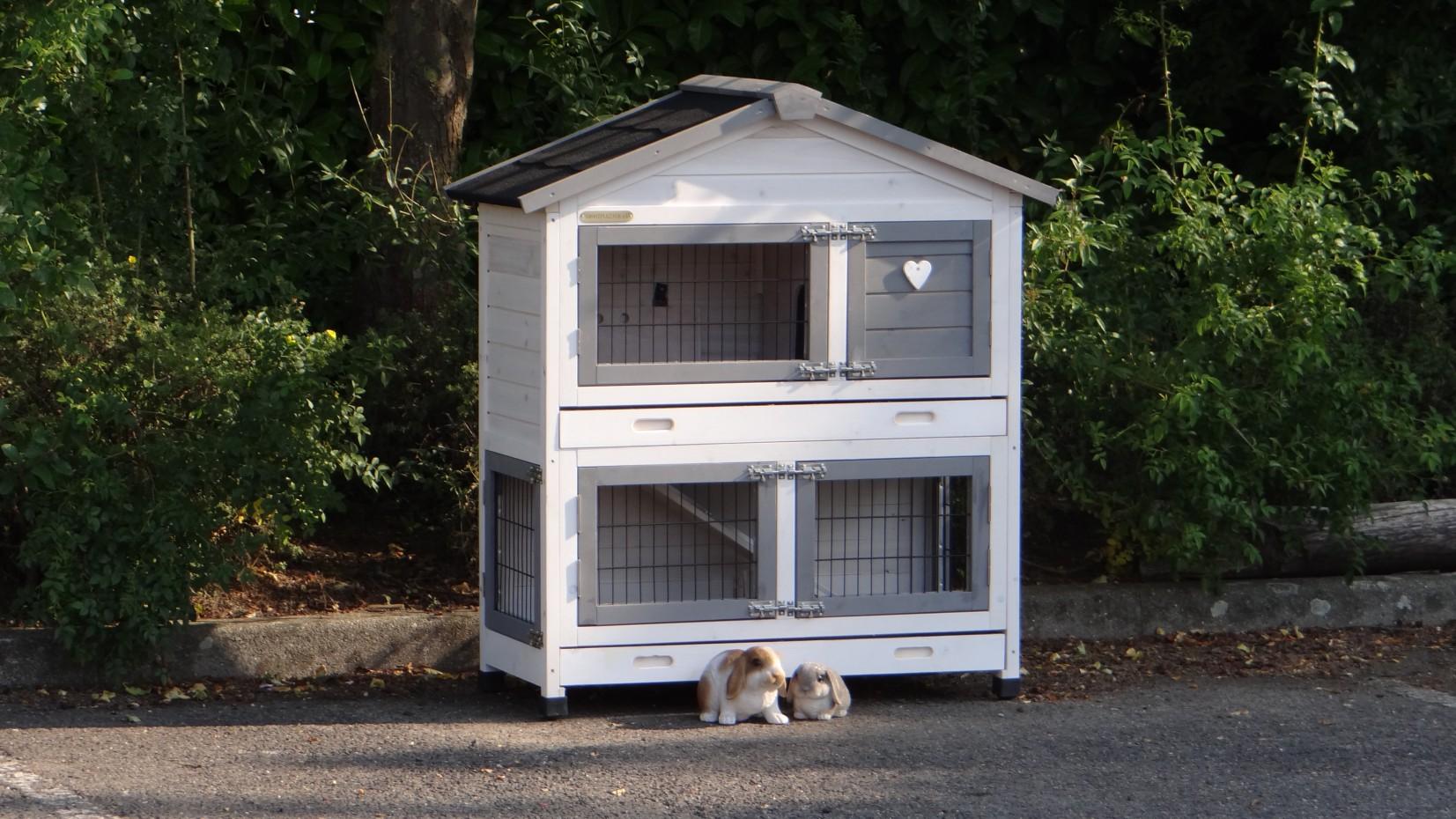 winterfest kaninchenstall excellent small mit isolierset und nageschutz white. Black Bedroom Furniture Sets. Home Design Ideas
