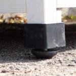 verstellbaren Kunststoff-Füßen kaninchenstall