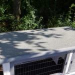 Kaninchenstall dach mit dachpappe