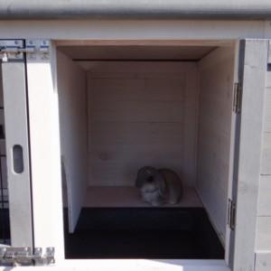 Schlafabteil Kaninchenstall Kim