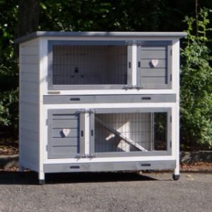 Kaninchenstall mit 2 etagen