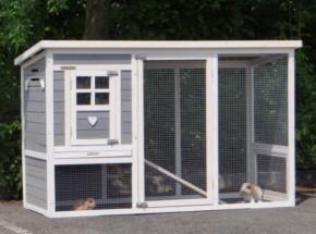 Kaninchenstall Julia weiß 169x75x104cm