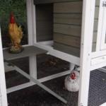 Öffnung schlafabteil hühnerstall