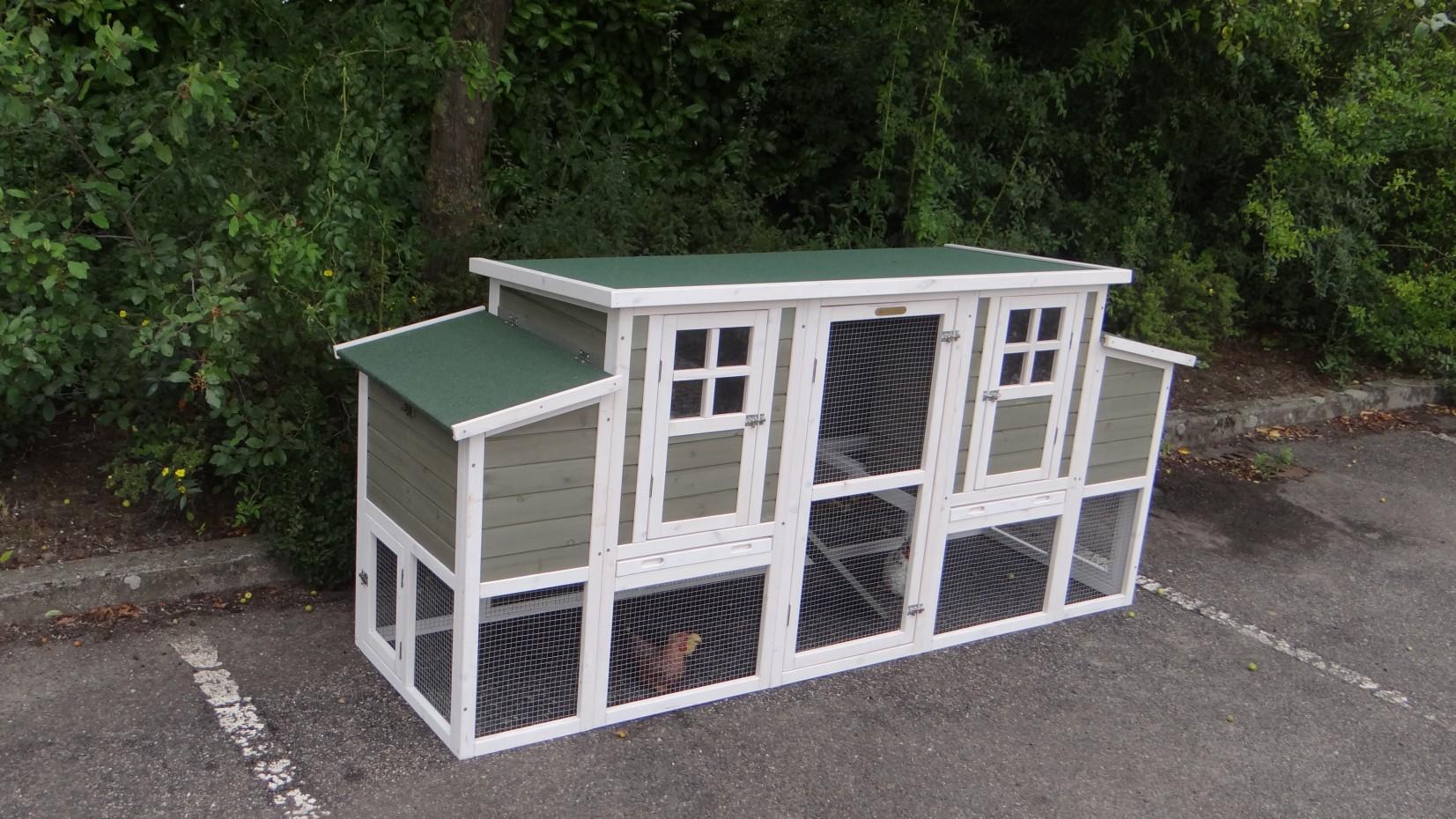 h hnerstall stijn mit 2 legenesten 226x70x103cm. Black Bedroom Furniture Sets. Home Design Ideas