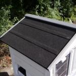 Hühnerstall dach mit dachpappe