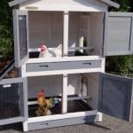 Hühnerstall mit 2 Schlafabteilen