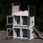 Praktischen Kaninchenstall mit klappdach