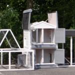 Kaninchenstall Double mit anbau-auslauf modulen