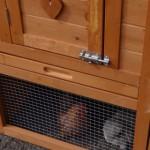 Hühnerstall mit kunststoff schublade
