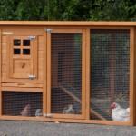 Kaninchenstall mit nistkast und auslauf