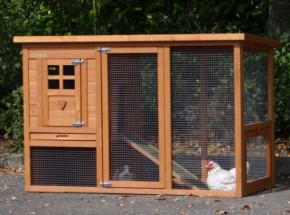 Kaninchenstall Budget mit Kunststoff Dach 136x64x87cm