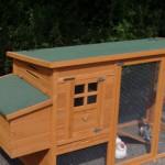 Kaninchenstall Julia dach mit dachpappe