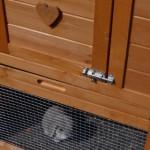 Kaninchenstall mit kunststoff schublade