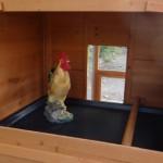 Schlafteil hühnerstall mit sitzstang