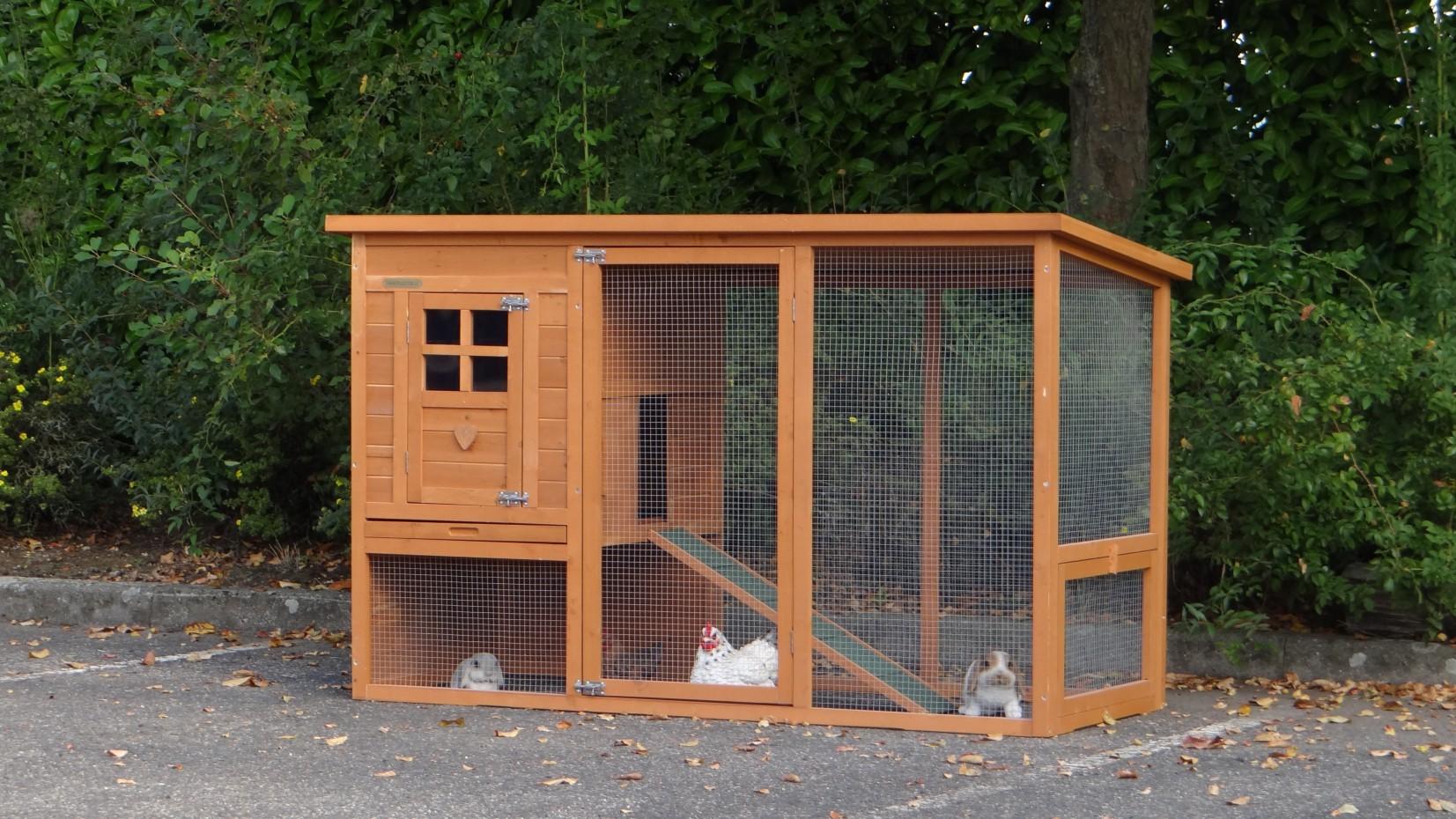 kaninchenstall julia 169x75x104cm. Black Bedroom Furniture Sets. Home Design Ideas