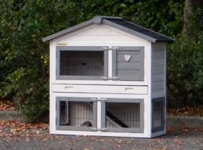 Kaninchenstall Regular Small mit Isolierset und Nageschutz 101x51x101cm