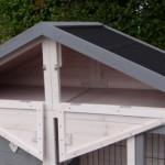 Hühnerstall Holiday Medium weiß - Stauraum im Dach