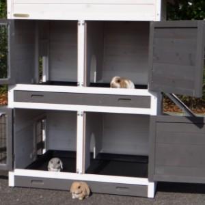 Kaninchenstall mit 2 schlafteilen
