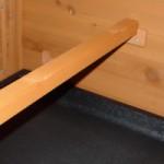 Hühner Schlafplatz mit Halterungen Braun 98x3,5x3,5cm
