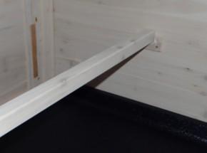 Hühner Schlafplatz mit Halterungen Weiß 98x3,5x3,5cm