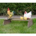 Hühner Schlafplatz mit Halterungen