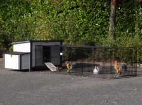Kaninchenstall Eva mit Anbau-Auslauf Jeffrey