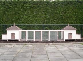Kaninchenstall Ambiance Large Doppel mit 3 Auslaufmodulen 534x93x122cm