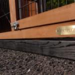 Fundament Schwarz Impragniert für Animalhouse Holiday Large mit zusätzlichem Anbau-Auslauf