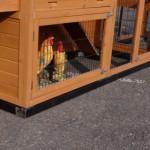 Holz Fundamentbalken Schwarz für Tierstall Holiday Medium mit zusätzlichem Auslauf