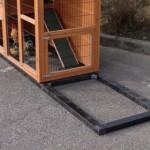 Fundamentbalken Schwarz Impragniert für Tierhaus Holiday Medium