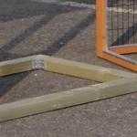 Fundament für Kaninchenstall - Hühnerstall Holiday Large mit zusätzlichem Anbau-Auslauf