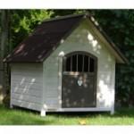 Hundehütte Private 1 weiss grau