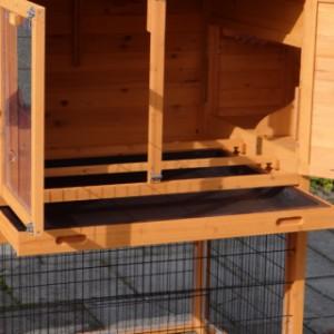 Hühner schlafteil mit 2 sitzstangen