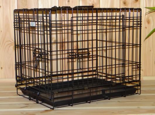 Stabiler Hundekäfig mit 3 Türen und gratis rutschfesten Füßen 63x45x52cm