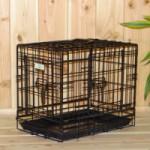 Stabiler Hundekäfig mit 3 Türen und gratis rutschfesten Füßen 48x32x39cm