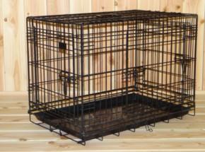 Stabiler Hundekäfig mit 3 Türen und gratis rutschfesten Füßen 78x49x57cm