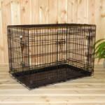 Stabiler Hundekäfig mit 3 Türen und gratis rutschfesten Füßen 93x57x65cm