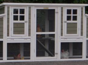 Plexiglas Isolierset für Kaninchenstall Stijn