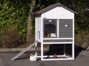 Hühnerstall Prestige Medium White 104x90x150cm