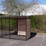 Preiswerter Hundezwinger FERM Schwarz mit Dach 1,5x3m