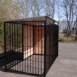 Hundezwinger FERM Schwarz mit Dach 1,5 x 3m